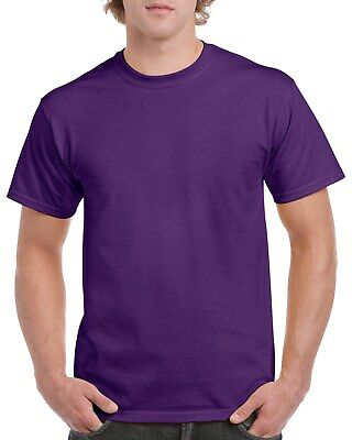 Purple GILDAN 5000L Men's Plain 100% Cotton Blank T-shirt Tee sizes S - 2XL