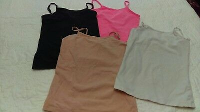 Girls Mixed Lot of 4 Sleeveless Cami Tops ~ Size Small ~ 6