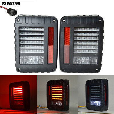 For Jeep Wrangler JK 07-17 LED Tail Light Rear Turn Signal Reverse Brake Lamps