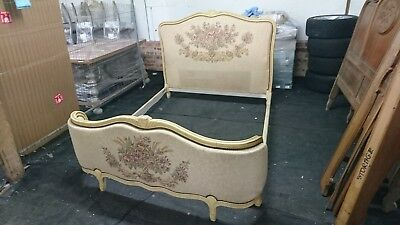 Vintage Antique Style Louis Xv Style Corbeille Double Demi Bed Frame French
