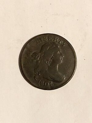 1804 1/2 Cent Draped Bust Crosslet 4 w/stems