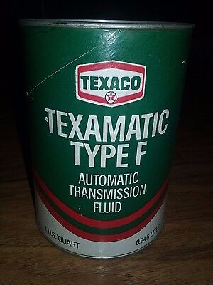 Nice Vintage Texaco Texamatic Type F Automatic Transmission Fluid Oil Can quart
