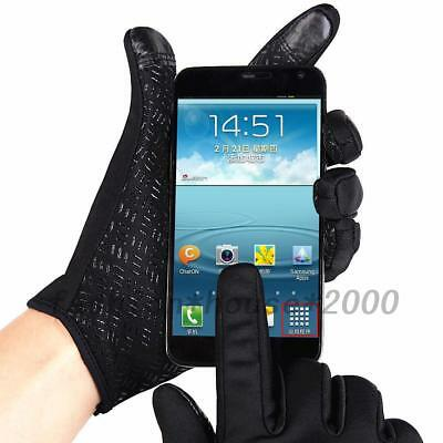 Touch Screen Thermal Driving Gloves Waterproof Bike Motorcycle Cycling Outdoor