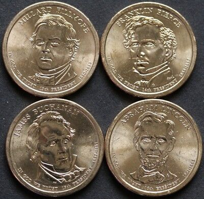 2010 US Presidential $1 One Dollar--4 Coins set UNC