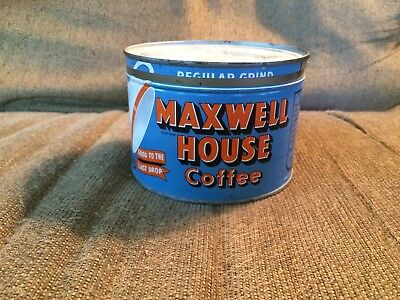 Vintage Maxwell House Coffee Tin –One Pound Can –Clean-No Key