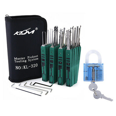 Lock Keys Picking Tools 12/24/32 pcs Locker Open Kits Set Lock Picks Traning