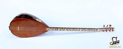 Turkish Quality Long Neck Walnut Baglama Saz For Sale Asl-312