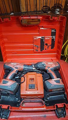 Hilti Combo SFH 18-A + SIW 18T-A 1/2 impact and hammer drill.