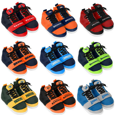 NFL Plush Sneaker Slippers Unisex S-XL Pick Your Team NWT Officially Licensed