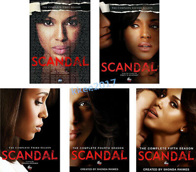 Scandal: TV Series Complete Seasons 1-5 DVD Box set 1 2 3 4 & 5 New