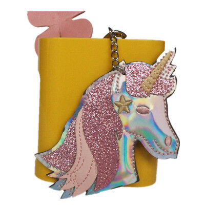 PU Leather Creative Unicorn Keychain Keyring Horse Animal Shape Pendant