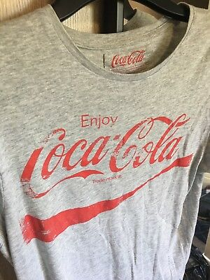 Coca Cola T Shirt Grey Printed Tee Logo