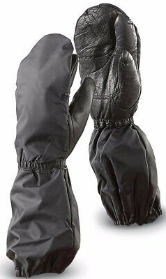 SWISS WATERPROOF MITTENS, 3 FINGER COLD WEATHER, ARMY  PILE LINED skiing walking