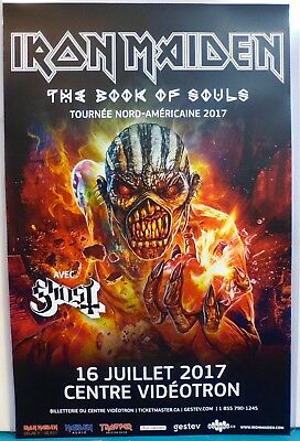 Original POSTER 11x17 IRON MAIDEN The book of souls CONCERT USA Canada 2017 tour
