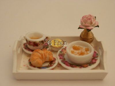 Dolls house food: Shabby chic breakfast tray  -By Fran