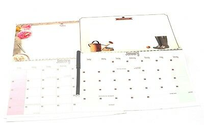 1 X 2019 Hanging Wiro Memo Board Wall Calendar Family Home Planner + Pen