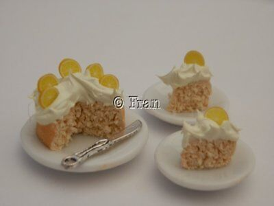 Dolls house food: Lemon cream cake for two   -By Fran
