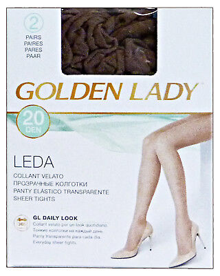 GOLDEN LADY Leda Tights 20 den black Size IV * 2 pairs 22a
