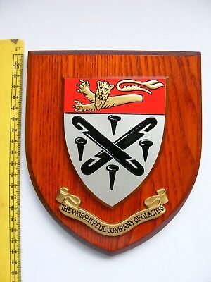 Worshipful Company Of Glaziers Wooden Wall Sheild Plaque