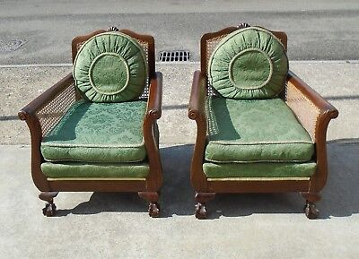 Pair Of Original Art Deco Armchairs      Delivery Available