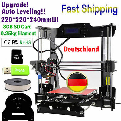Auto Level 220*220*240mm 3D Printer DIY Kit High Precision upgrade Bed Extruder