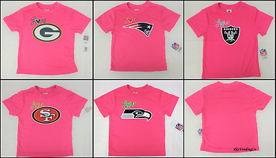 Girls Pink NFL Love Tee Shirts Toddler Infant
