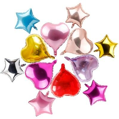 "18"" 5pcs Solid Colour Star Foil Balloon Party Helium Birthday Xmas Wedding Favor"