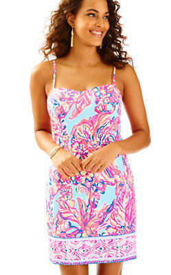 2134511a3230ed $158 New Lilly Pulitzer SHELLI DRESS Serene Blue Big Escapade Engineered 6