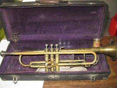 """Antique Trumpet """"Fidelity Americas' Finest"""" with Rudy Muck 17C Mouthpiece"""