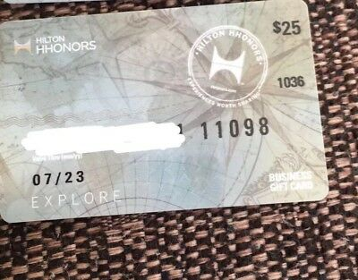 25$ Hilton vouchers - For use in U.K. or USA. Hilton hotel.