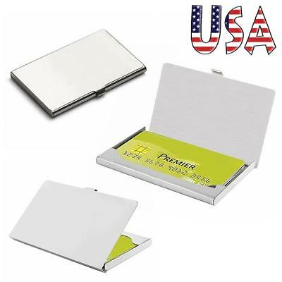 Metal Business Card Wallet Case ID Credit Card Pocket Holder Mirror Plate Refect