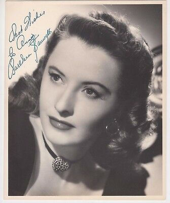 Barbara Stanwyck Signed Autographed 8x10 Promotional Picture Headshot