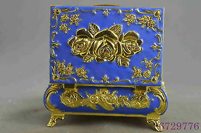 Collection Deocrative Handwork Cloisonne Carve Flower Auspicious Lucky Jewel Box