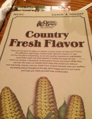 Who Needs An iPhone? Just Get A Genuine Cracker Barrel Menu! ***MUST HAVE***
