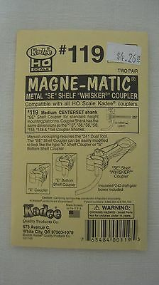 Kadee #119 HO Scale Magne-Matic Metal SE Shelf Couplers 2-pair New in Package