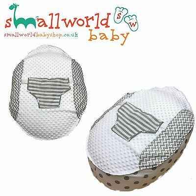 Personalised Boys Girls Grey Patchwork Baby Bean Bag (NEXT DAY DISPATCH)