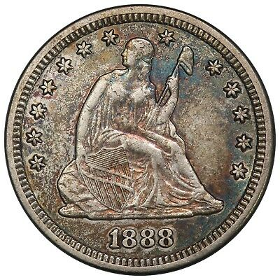 1888-S Seated Liberty Quarter, PCGS XF45, nicely toned