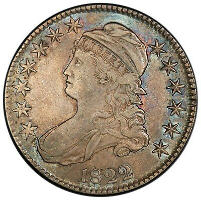 1822 Capped Bust Half Dollar, O-106, R.3, PCGS XF45, nicely toned