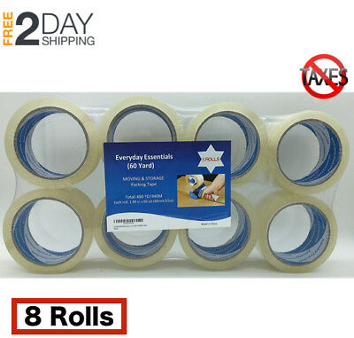 Scotch Moving Storage Packing Tape 6 Rolls Heavy Duty Shipping Packaging Strong