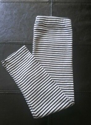 Toddler Girls Black & White Striped Leggings Size 4T