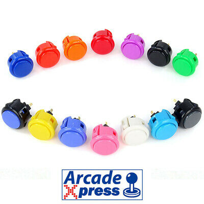 Boton Sanwa Pushbutton OBSF 30 Arcade pushbutton 30mm Japones Original MAME