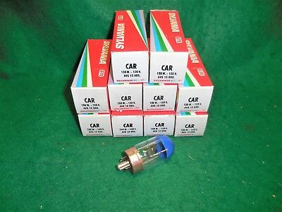 Lot of 10 Boxes of Sylvania GTE Blue Top Projector Bulb Lamp Type CAR 150 w.