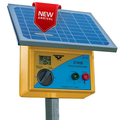 20km S180B SOLAR Powered Electric Fence ENERGISER Thunderbird RRP $555 Battery