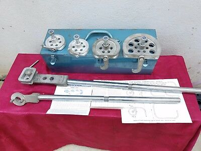 """Imperial-Eastman Corp. 360 FHA Lever Type Tube Bender Set 3/8"""", 1/2"""", 5/8"""", 7/8"""""""