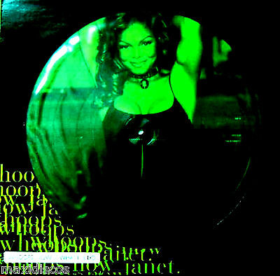 """12"""" + Poster - Janet Jackson - Whoops Now (Picture Disc) Nuevo Oyelo*mint Listen"""