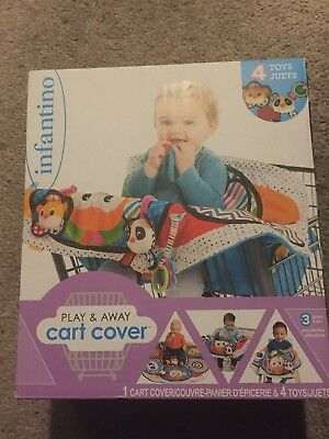 Infantino Play and Away Cart Cover/high chair cover/Play Mat w/toys BRAND NEW