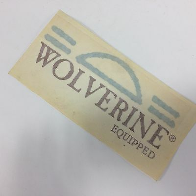 Wolverine Equipped Decal Vintage Sticker Wolverine Company Logo Discontinued