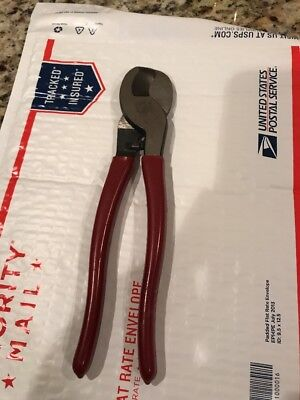 """Klein Tools 63050 Insulated High Leverage Cable,Wire Cutters 9"""" USA tool"""