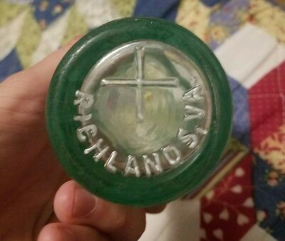 EXTREMELY rare Richlands, va coca cola coke soda bottle vintage tazewell county