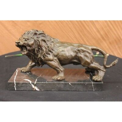 Lion Signed By Barye Figurine Hand Made Masterpiece Sale Sculpture Statue Bronze